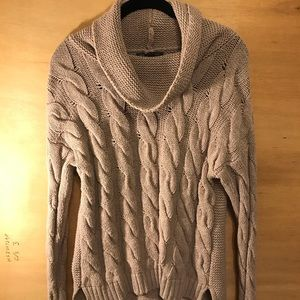 Banana Republic Cable Knit Turtleneck Sweater